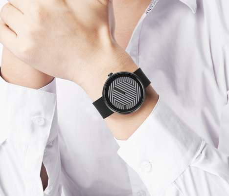 Optical Illusion Timepieces - The Optical GRAY Watch by Alessio Romano is Gentlemanly Chic