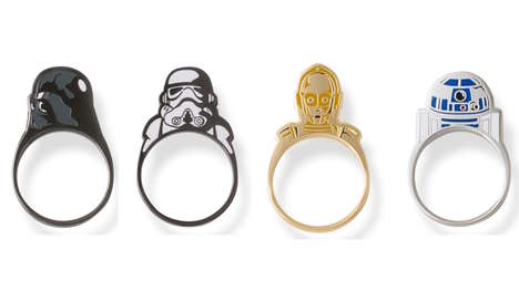 Sci-Fi Character Rings - These Adorable Star Wars Rings Promote Characters Such as Darth Vader