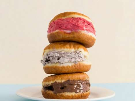 Gelato-Filled Donuts - This Warm Pastry is Stuffed with a Scoop of Gelato