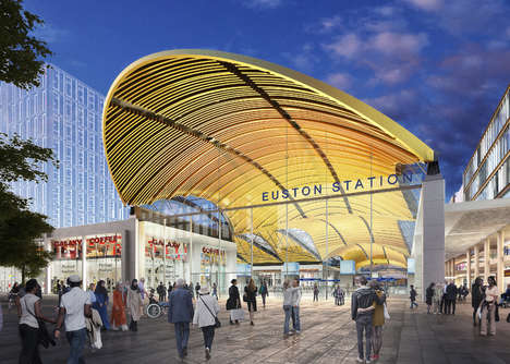 Petal-Shaped Train Stations - London's Euston Station is Getting a Contemporary Makeover