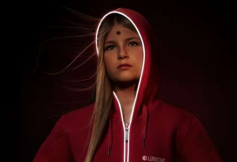 Luminous Electric Apparel - Lunative's Nighttime Jackets are Battery-Operated to Keep Wearers Safe