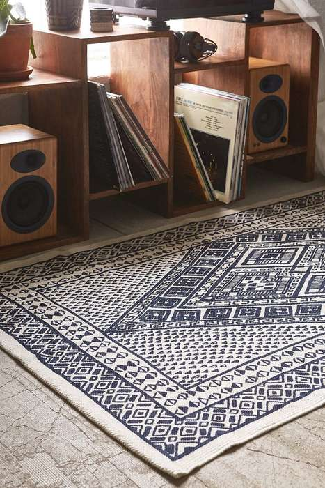 Luxurious Bohemian Rugs - These Graphic Rugs are Inspired by Traditional Tibetan Designs