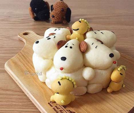 Sculptural Cartoon Breads - These Adorable Chigiri-Pan Breads Feature Beloved Cartoon Characters