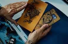 Tattooed Smartphone Accessories - These Leather Phone Cases Feature Intricate Ink Artwork
