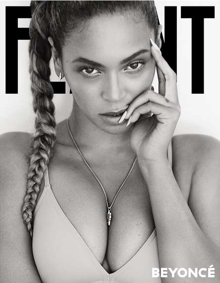 Monochromatic Songstress Covers - Flaunt Magazine Issue #143 Stars a Very Sexy and Dramatic Beyonce