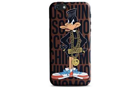 Couture Cartoon Phone Cases - This Moschino Looney Tunes iPhone Case Features a Designer Daffy Duck