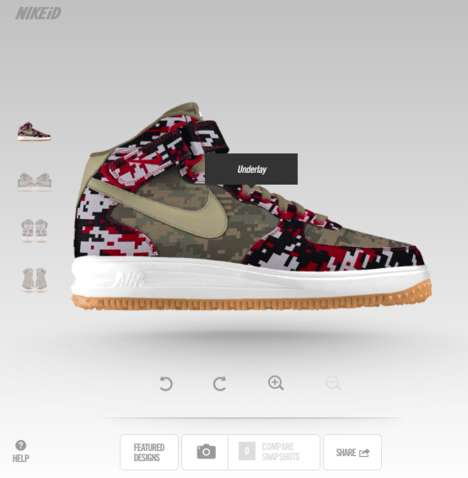 Customizable Camo Sneakers - The Nike Air Force 1 Shoe Designs Can be Personalized With NIKEiD