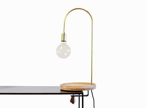 Key Tray Lamps - The Butler Lamp from Studio 19 Doubles as a Useful Place for Desk Items