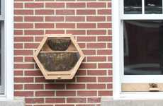 Home Honeybee Units - The 'BEEcosystem' is an In-House Bee Hive That Displays Insect Lives