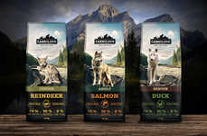 Artisanal Dog Foods - This Pet Chow Pairs Aging Dog Imagery With Signature Products