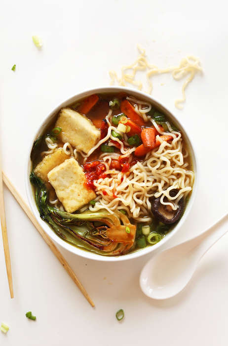 Vegan-Friendly Ramen Soups - This Vegan Dish is Made with Mushroom Broth and Miso-Roasted Veggies