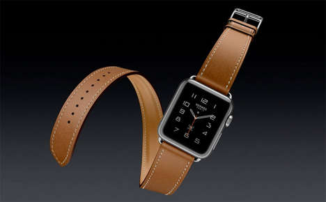 High-Fashion Smartwatches - This Leather Apple Watch Band is a Sophisticated Hermes Creation