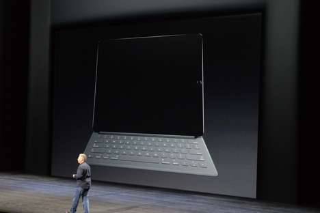 Smart Tablet Keyboards - The Apple Smart Keyboard Features Dynamic Fabric and Integrated iPad Usage