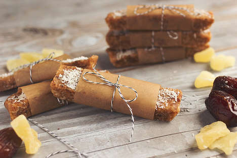 Homemade Energizing Snacks - These Vegan and Gluten-Free Energy Bars Feature a Tropical Flair
