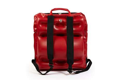 Haute Inflatable Knapsacks - The RAFT Backpack Designs are Inspired by Life Preservers Worn on Boats