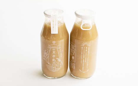 Brown Rice Milk Packaging - Hachitokuya Genmainyu is Produced on Japan's Ishigaki City
