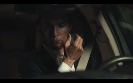 Dapper Automotive Ads - This Celebrity Commercial Features a Dapper Depiction of Car and Man