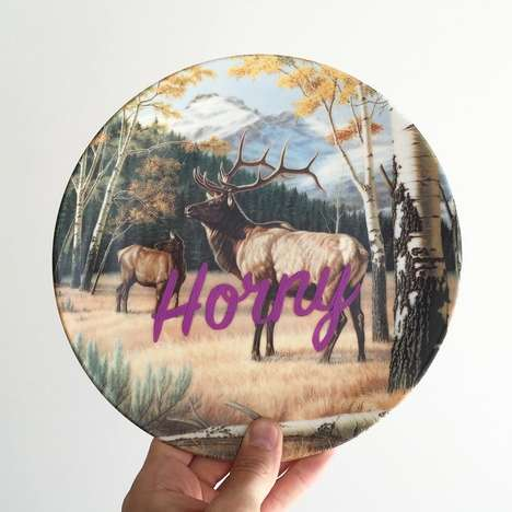 Naughty Ceramic Art - These Decorative Ceramic Plates are Adorned with NSFW Imagery