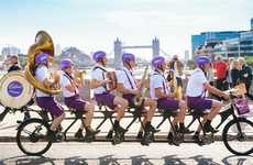 Chocolate-Sharing Cyclists - Cadbury's Quirky Musical Cyclists Dole Out Free Chocolates in London