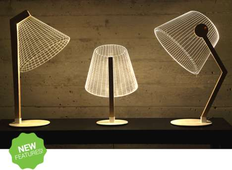Illusory Wireframe Lamps - These 2D Lamps Provide Fun Optical Illusions for the Home Decorator