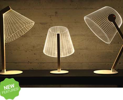 Illusory Wireframe Lamps