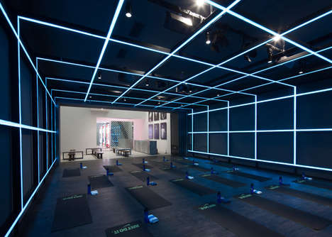Futuristic Fitness Galleries - Nike has Invaded a Gallery to Promote a Holiday Collection
