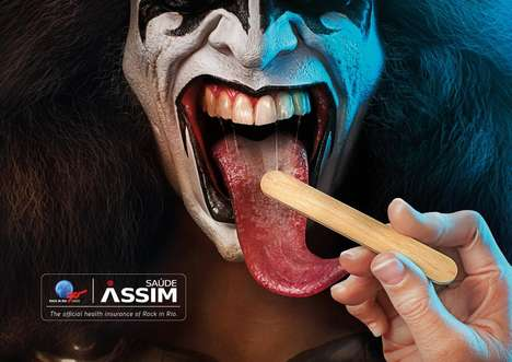 Healthy Rockstar Ads - Assim Saude's Health Insurance Ads Feature Famous Music Icons