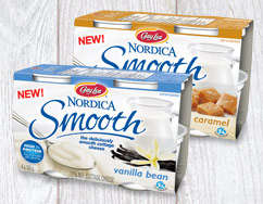 Cottage Cheese-Based Yogurts - The 'Nordica Smooth' Snack is Packed with Protein & Sweet Flavors