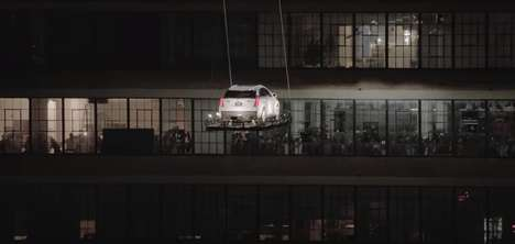 Flying Car Campaigns - Cadillac Airlifts Its Newest Car for a Surprise Product Launch