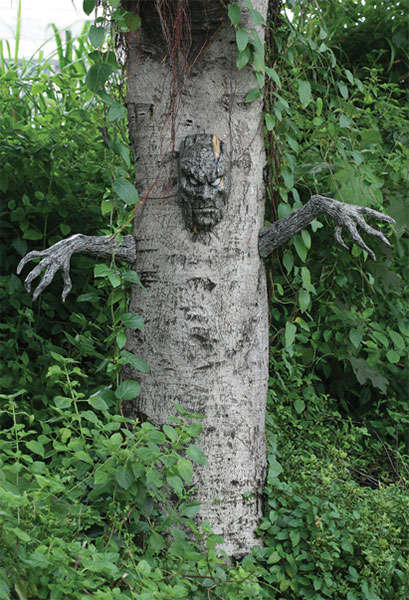 Spooky Tree Decorations - This Decoration Kit Lets You Turn Any Tree into a Scary Looking Creature