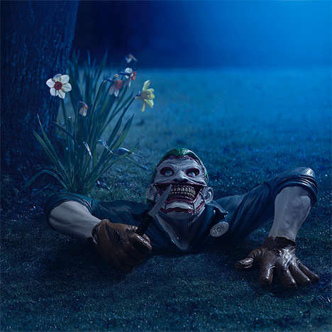 Creepy Comic Character Statues - The Joker Ground Breaker Will Scare Guests and Probably You Too