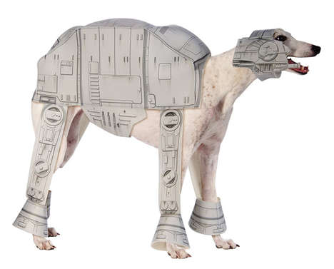 Intergalactic Pet Cosplay - The Star Wars AT-AT Imperial Walker Dog Costume is Total Geeky Goodness