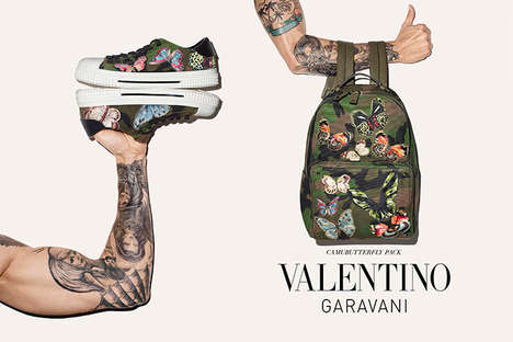 Tattooed Accessory Catalogs - Fashion House Valentino Enlists Inked Models to Showcase New Products