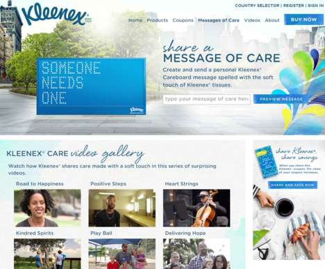Live Care Campaigns - 'Messages of Care' by Kleenex Shares Kind Thoughts in Real-Time