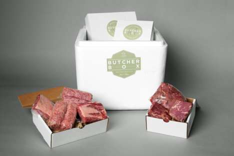 Carnivore Subscription Boxes - ButcherBox Delivers Grass-Fed Beef Directly to Consumers