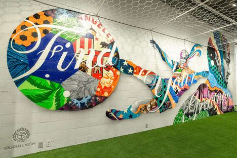 "LA-Themed Fitness Stores - This Nike Flagship Store in California has a Massive ""We are LA"" Mural"