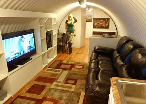 Cozy Underground Bunkers - This Nuclear Fallout Survival Shelter Sits 20 Feet Underground