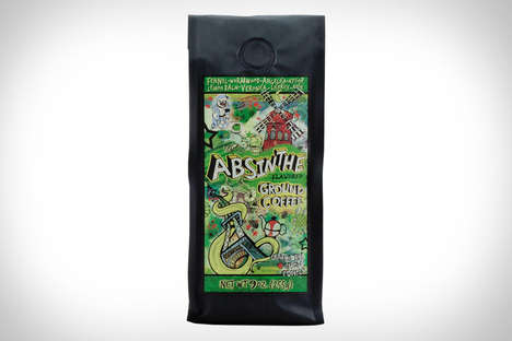 Absinthe-Flavored Coffees - This Weird Coffee Features Flavoring from the Hallucinogenic Spirit