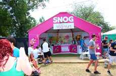 Festival Yogurt Shops - Snog's Yog-Yurt Pop-Up Offers Refreshing Treats to Concert Goers