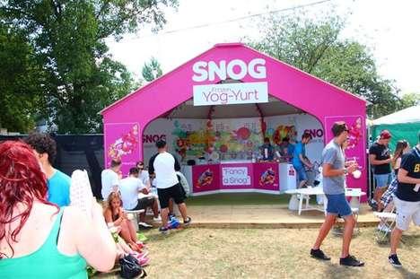 Festival Yogurt Shops - Snog's Yog-Yurt Pop-Up Offers Refreshing Treats to Concert Goers