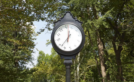 Perplexing Public Clocks - This 16-Foot Clock Art Sculpture Tells Time in an Unusual Way