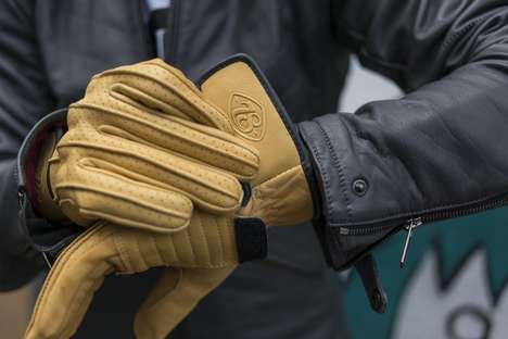 Neo-Vintage Motorcycle Gloves - The 'Speed Glove' by the 78 Motor Co. Boasts a Luxury Vintage Style
