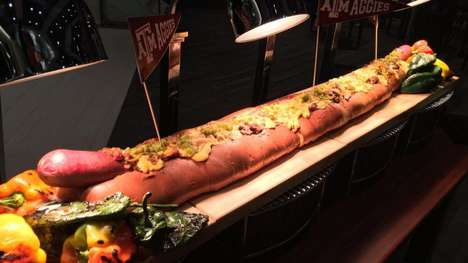 Oversized Hot Dogs - Kyle Field Stadium is Celebrating its 12th Man with a 12 Pound Hotdog