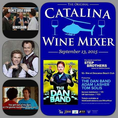 Movie-Themed Wine Festivals - The Catalina Wine Mixer from the Step Brothers Film is a Real Event