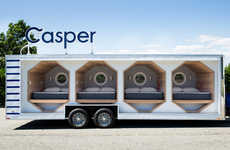 Mobile Mattress Showrooms - The Napmobile Presented by Casper Allows Consumers to Test Mattresses