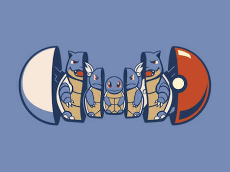 Anime Nesting Doll Art - These Images Depict the Evolution of Pokemon Characters Using Nesting Dolls