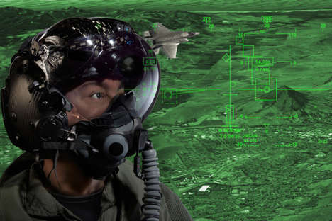 360-Degree Vision Helmets - This Pilot Helmet Sees Through Planes to Improve Situational Awareness