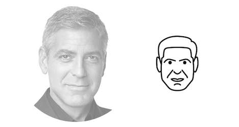Minimalist Celebrity Portraits - Dorian Legret's Minimalist Illustrations Simplify Famous Faces
