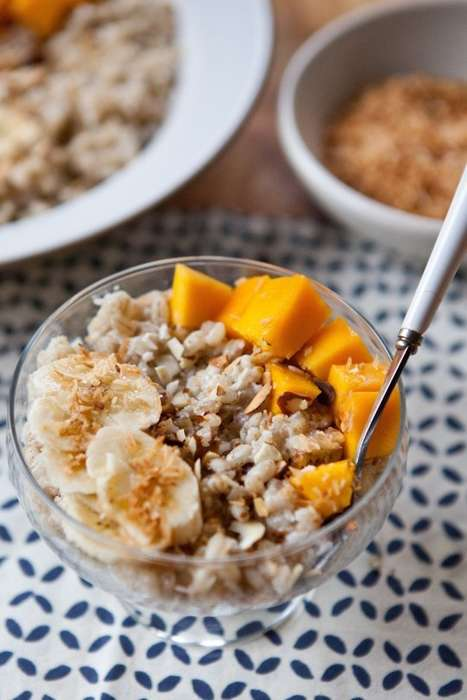 Fiber-Rich Breakfast Bowls - This Tropical Barley Bowl Serves as a Hearty Morning Meal