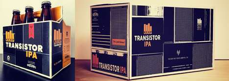 Radio-Inspired IPA Branding - Scuttlebutt Brewing's KEXP Transistor IPA Pays Tribute to the Station